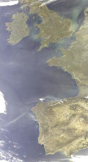 MERIS Envisat Image from 28 March 2012