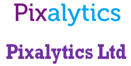 Evolution of the Pixalytics logo over the last two years