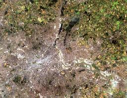 Landsat 8 showing London, data courtesy of the USGS