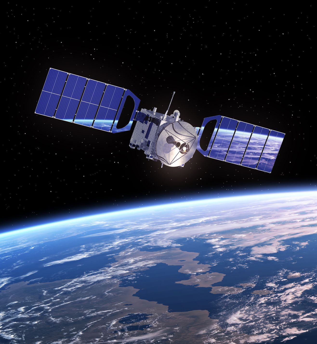 Artist's rendition of a satellite - mechanik/123RF Stock Photo