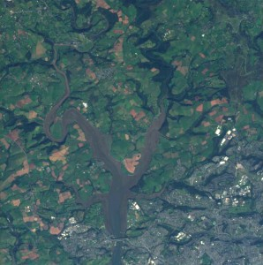 Tamar estuary captured in October 2005, data courtesy of ESA.