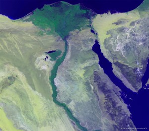 Proba-V image of the Nile Delta in Egypt, courtesy of the Belgian PROBA-V / ESA Earth Watch programmes
