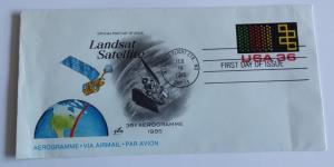 Landsat first day cover