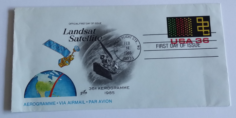 Landsat first day cover