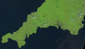 Landsat 8 image of South West England from the 25th July 2014. Landsat imagery courtesy of NASA Goddard Space Flight Center and U.S. Geological Survey