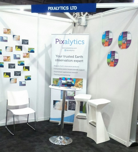 Pixalytics stand at UK Space Conference