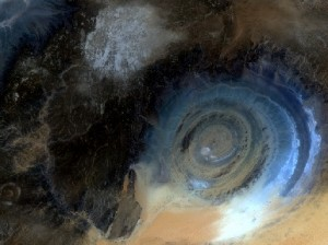 Eye of the Sahara from Landsat 8 on 7th July 2015. Data courtesy of NASA/USGS.
