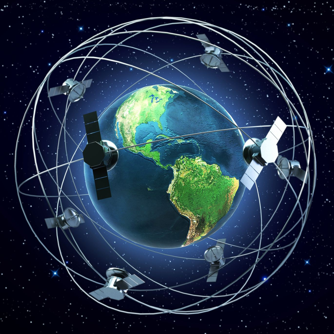 Satellites orbiting the Earth