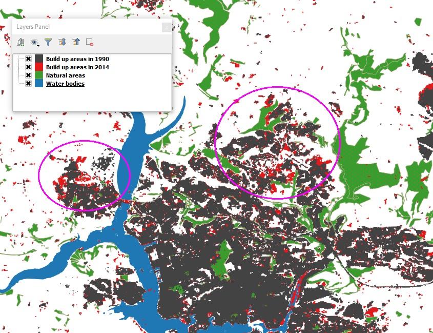 Identifying Urban Sprawl in Plymouth Pixalytics Ltd