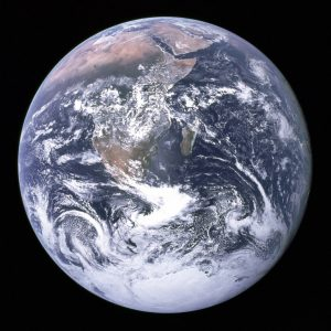 Blue Marble image of the Earth taken by the crew of Apollo 17 on Dec. 7 1972. Image Credit: NASA