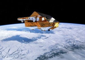ESA's Earth Explorer CryoSat. Image courtesy of ESA/AOES Medialab.