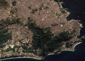 Rio de Janeiro, Brazil, acquired on the 13th July 2016. Image courtesy of Copernicus/ESA.