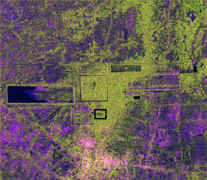 Angkor Wat, Cambodia. SAR image from Sentinel-1 courtesy of ESA.