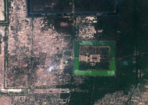 Ankgor Wat, Cambodia. Sentinel-2A image courtesy of ESA.